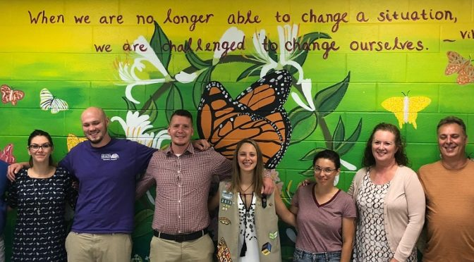 Perryville Girl Creates Mural to Support Recovery at Whitsitt Center